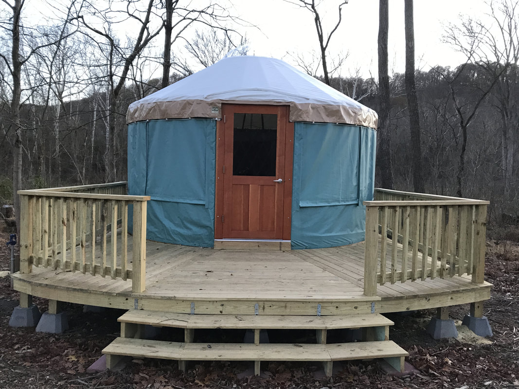 Yurts - Three Otters Eco Retreat - Riverside Adventures & Education